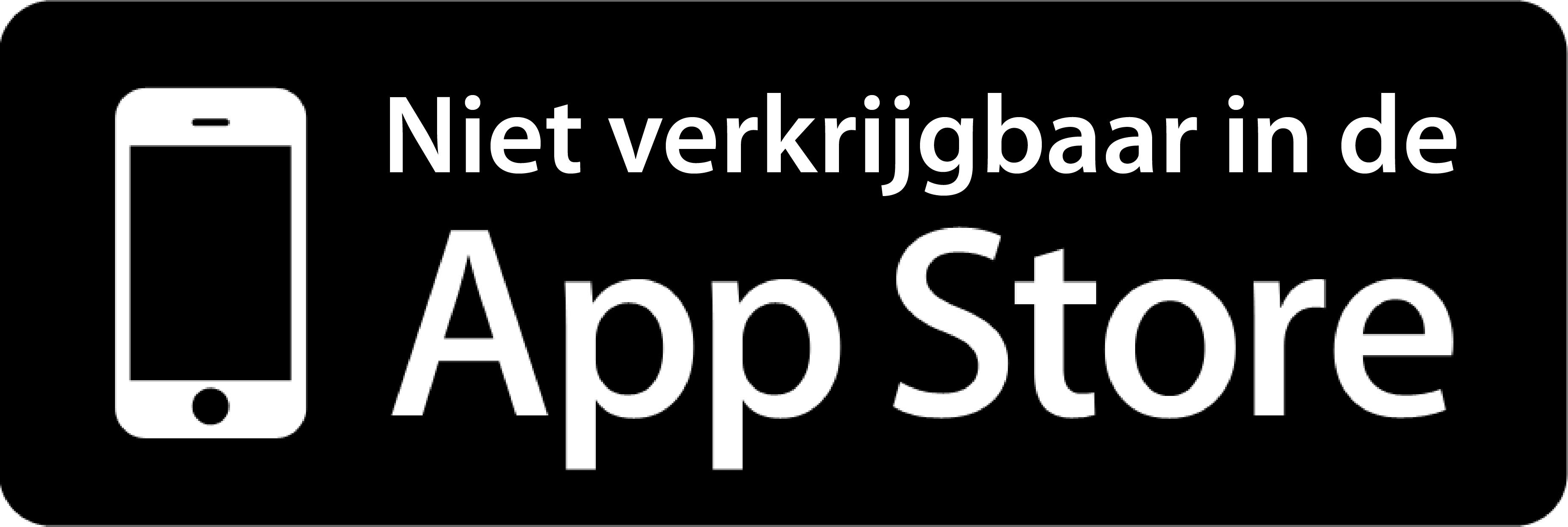 Niet in de App Store