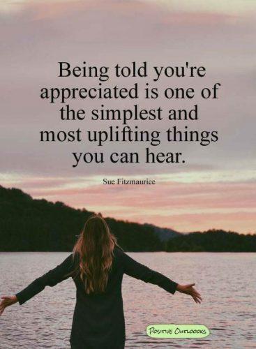 Be appreciated